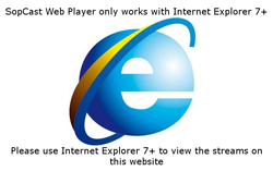 Best viewed in Internet Explorer 7 (obsolete icon from mid 2000s for streaming media)