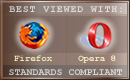 Best Viewed in Firefox or Opera (old icon from early 2000s)
