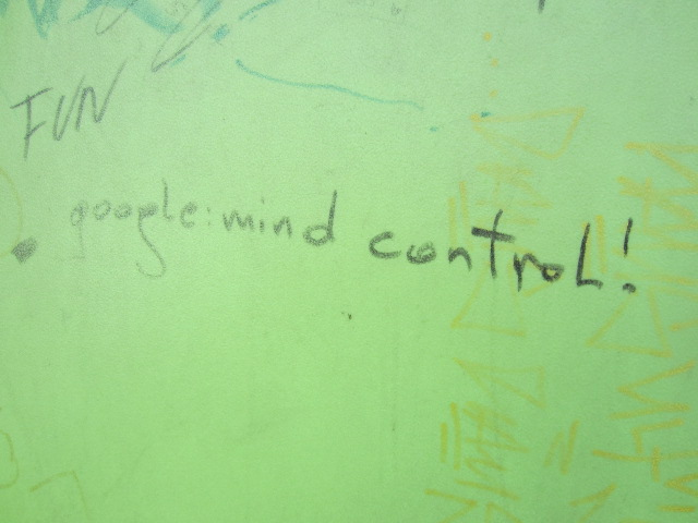 Google: mind control on a dumpster in Vienna, Austria