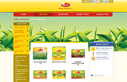 Lipton Green Tea homepage