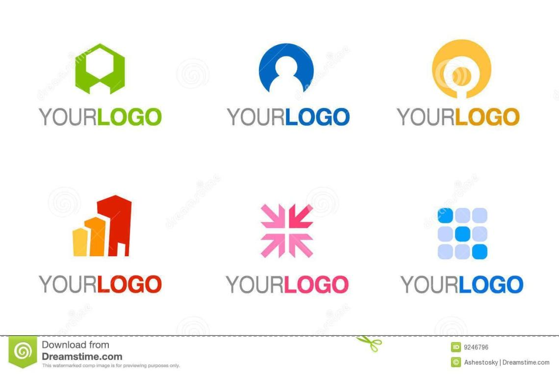 stock logos are not really design